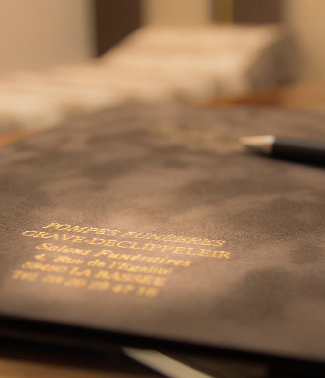 Contrat obsèque stylo